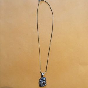 Jewelry - Vintage sterling silver rabbit necklace